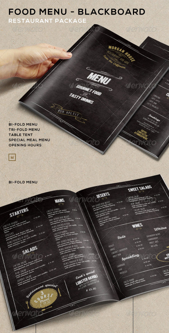 High Quality Restaurant Menu Design Templates Web Graphic - Foldable menu template