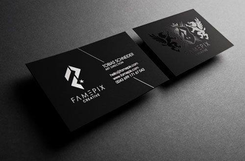 "Black Businesscards ""Famepix"""