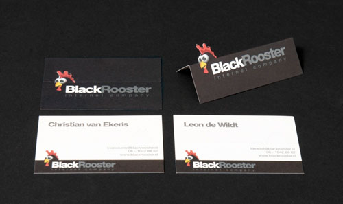 Black Rooster Business Cards