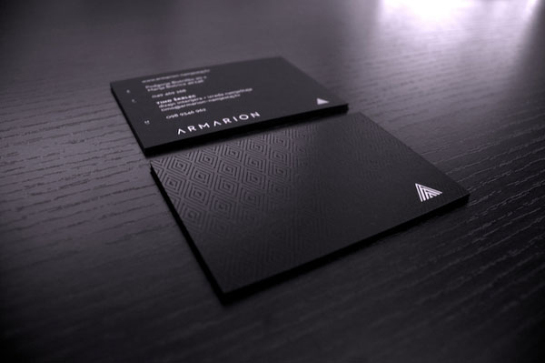 25 outstanding black business cards web graphic design bashooka colourmoves