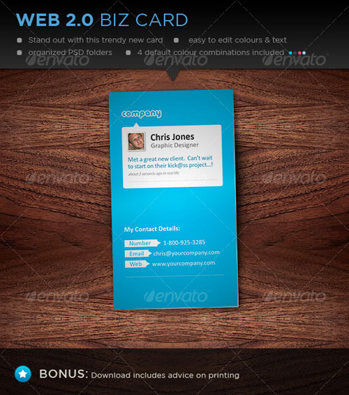 Business Card - Web 2.0 Style