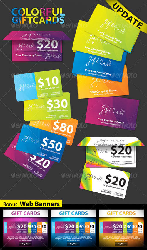 COLORFUL - gift cards