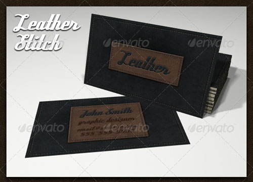 Leather Stitch Business Card