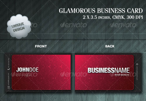 GLAMOROUS BUSINESS CARD
