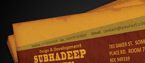 How To Create Old Grudge Style Print Ready Business Card