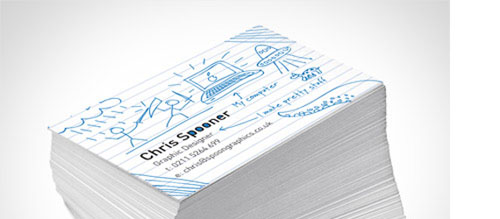 Create a Fun Print-Ready Doodled Business Card Design