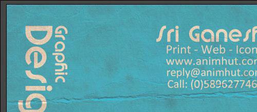 PSD Tutorial: Design a Dirty Business card