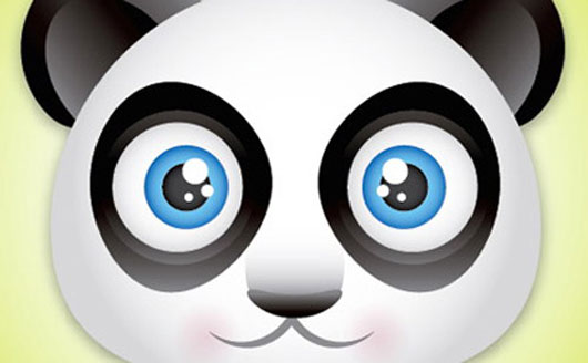 Create a Cute Panda Bear Face Icon