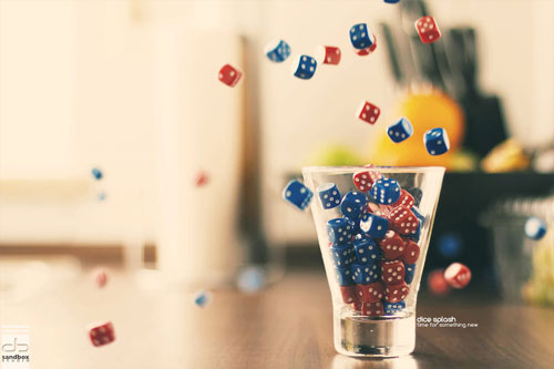 dice splash