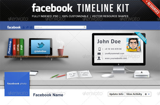 60 high quality facebook timeline cover psd templates web facebook timeline kit pronofoot35fo Images