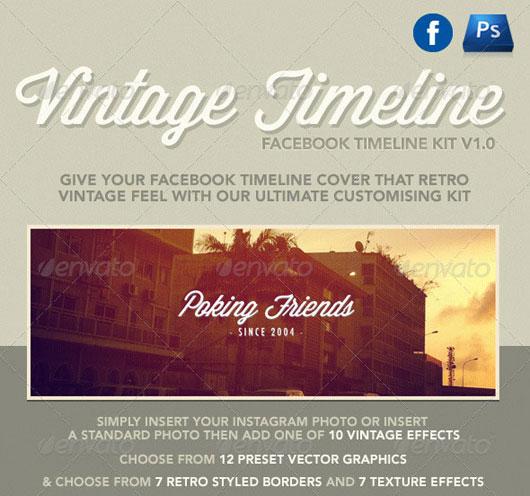 Vintage Facebook Timeline Kit
