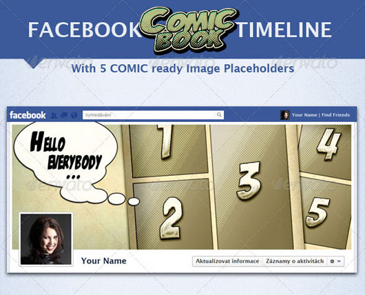 Facebook Comic Book Timeline