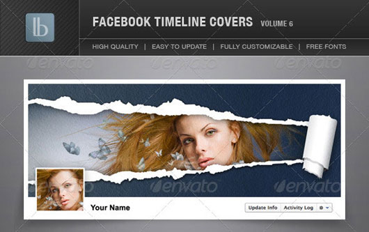 60 High Quality Facebook Timeline Cover PSD Templates