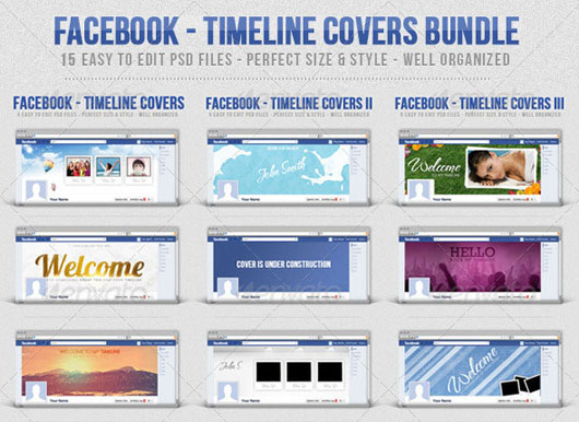 Facebook - Timeline Covers Bundle