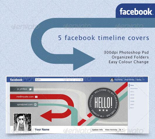 Facebook Timeline Covers - Retro Badges