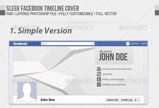 Sleek Facebook Timeline Cover