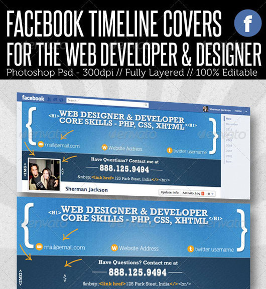 Facebook Timeline Cover - Web Developer & Designer