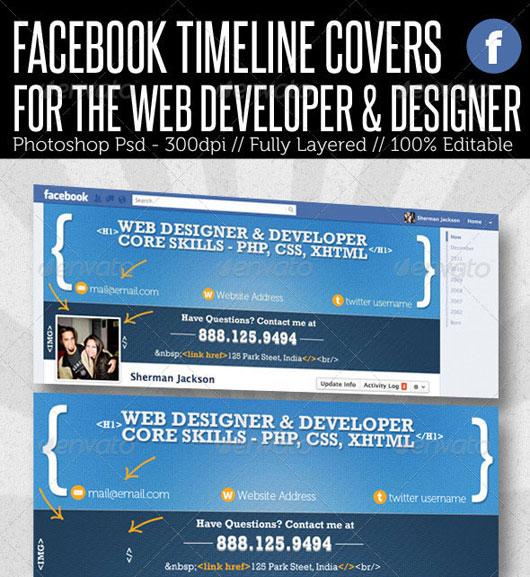 Facebook Timeline Cover - Web Developer & Designer