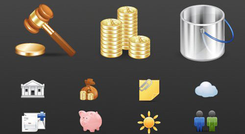 Finance and Applications: A Free Icon Set