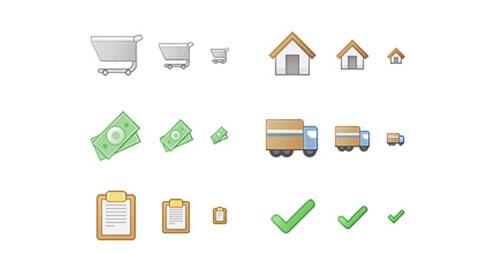 Checkout Process Icons