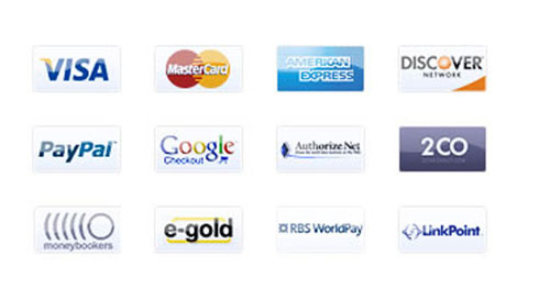 Payment Type Icons and Buttons
