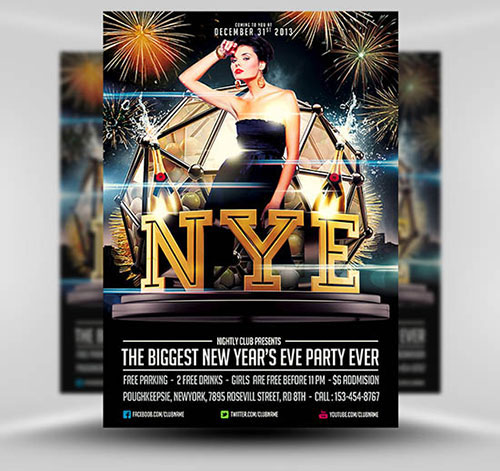 Free NYE Flyer by Saltshaker911