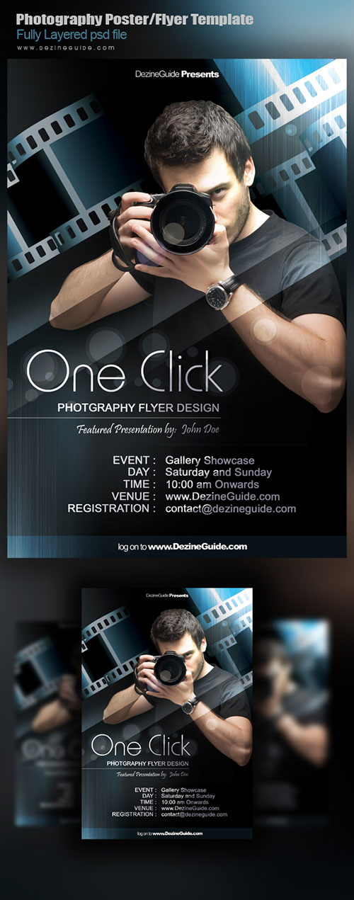 Download Free Photography Flyer/Poster Template