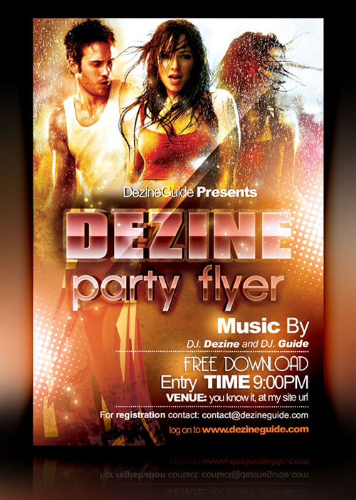 Download Free Dezine Party Flyer/Poster Template