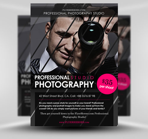 Free Photography PSD Flyer Template