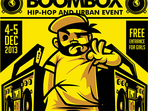 Boombox HipHop Flyer