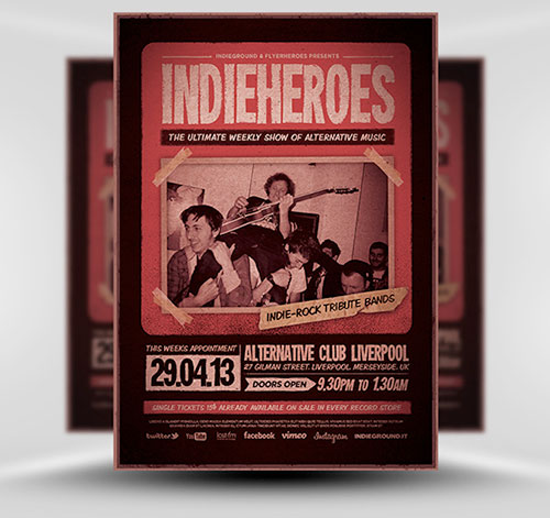 IndieHeroes Flyer Template by Indieground