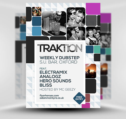 Traktion Student Night Flyer Template