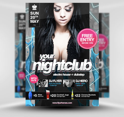 32 awesome free psd flyer templates web graphic design bashooka