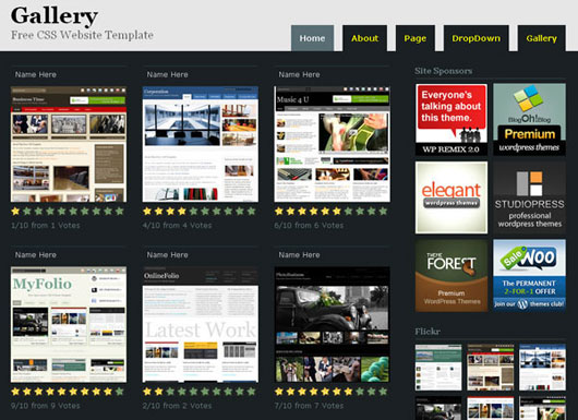 Gallery Free Website Template