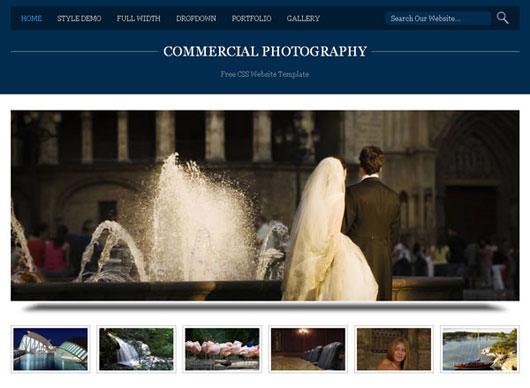 Commercial Photography Free Website Template