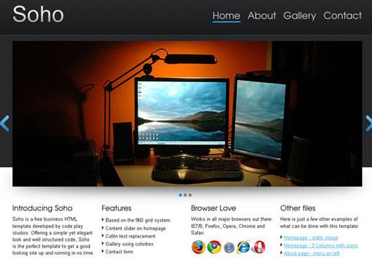 Soho: Free HTML template
