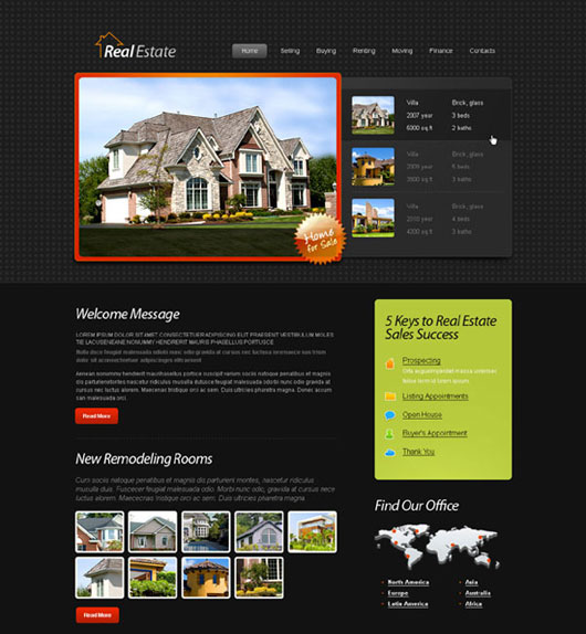 Free HTML5 Template for Real Estate Website