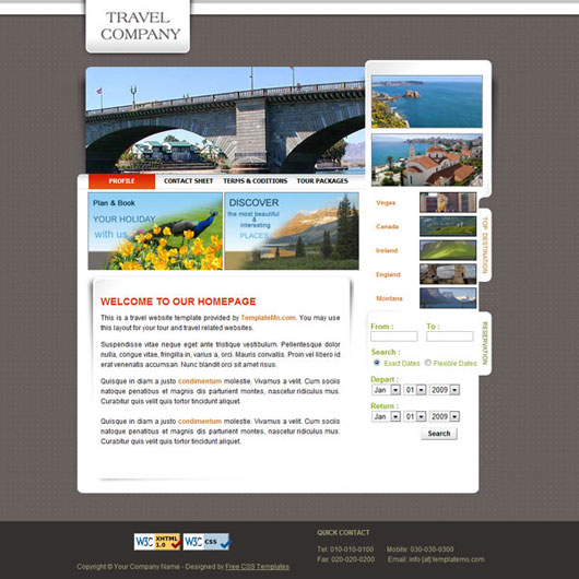 Travel Company HTML Template