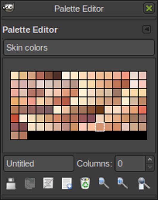 Skin Colors palete