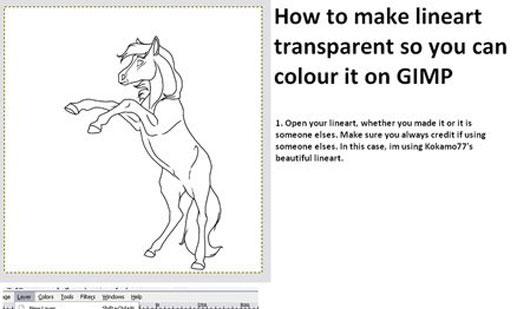 How 2 colour lineart on GIMP..