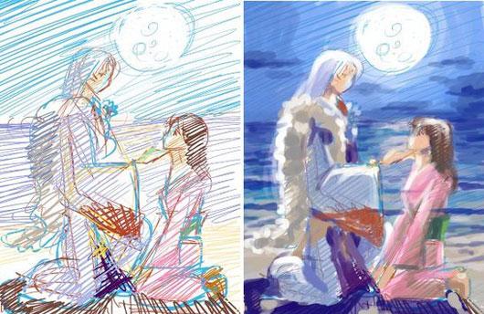 StepByStep:Sesshomaru and Rin