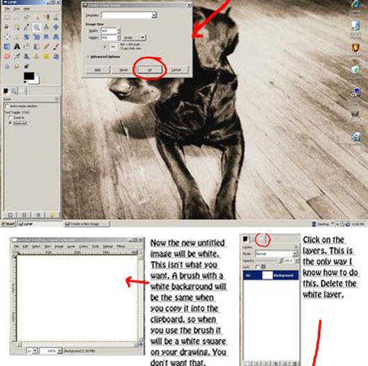 Brushes on GIMP tutorial
