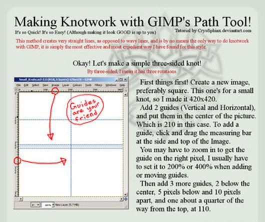 Knotwork Tutorial for Gimp