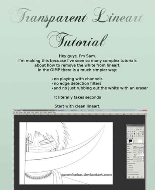 GIMP Tut: Transparent Lines
