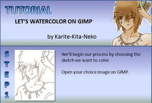 GIMP Watercolor Tutorial