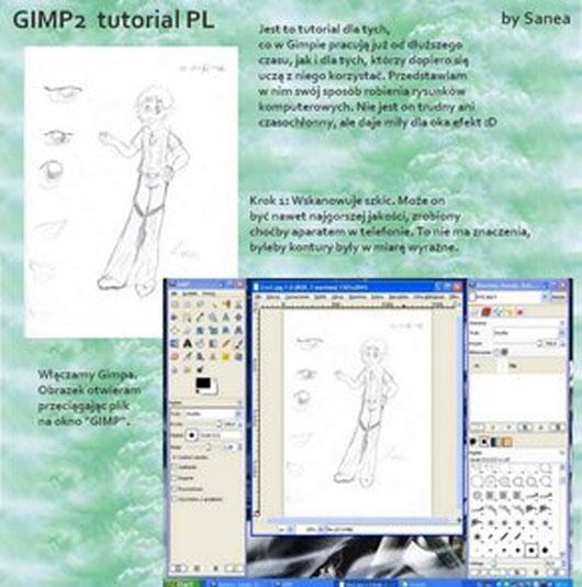 GIMP2 tutorial PL