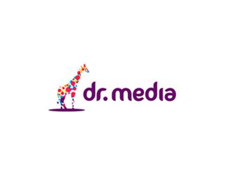 Colorful giraffe for Lithuanian media company