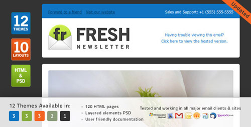 Best HTML Email Newsletter Templates | Web & Graphic Design | Bashooka