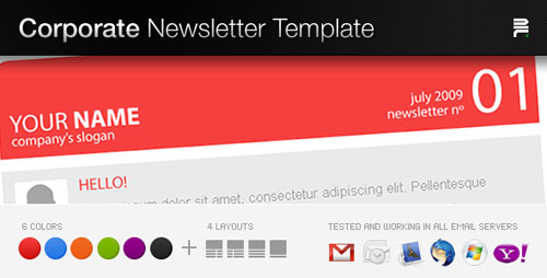 Best HTML Email Newsletter Templates Web Graphic Design – Corporate Newsletter Template