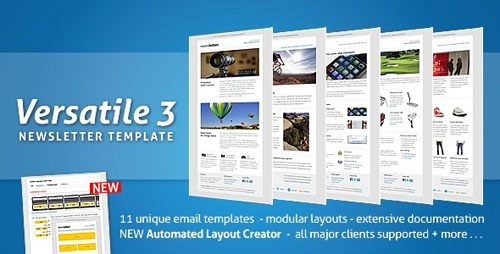 Best html email newsletter templates web graphic design bashooka versatile newsletter 3 automated layout creator spiritdancerdesigns Image collections